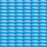 Pattern with blue geometric shapes that simulate sea Stock Images