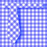 Blue Gingham Farhers Day Background. The pattern of a blue gingham tie background ove the same pattern Stock Image