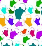 Pattern of blue and grey elephants. Background with elephants. Children`s pattern. Background of cute elephants. vector illustration