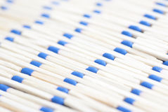 Pattern Of Blue Headed Matches. Line up of blue-headed matchsticks Stock Photography