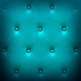 Pattern of blue leather seat upholstery Stock Photo