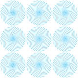 Pattern of blue luminous spirals Stock Images
