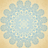 Pattern blue, old paper Royalty Free Stock Photography