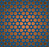 Pattern blue and orange gear wheels Stock Photography