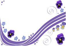 Pattern with blue pansy flowers Royalty Free Stock Photos