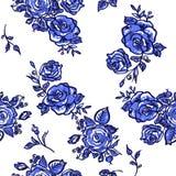 Pattern blue rose Stock Photos