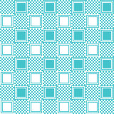 Pattern with blue square Stock Image
