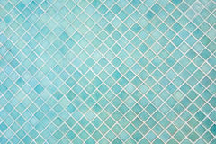 Pattern of blue square mosaic Stock Image