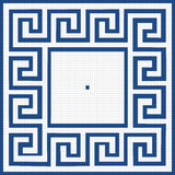 Pattern of blue squares Royalty Free Stock Photos