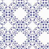 Pattern blue stars Royalty Free Stock Images