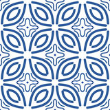 Pattern blue. Pattern vector blue  national geometric Stock Image