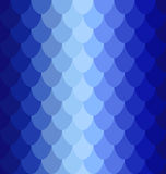 Pattern blue volume scales. The red scales of a snake, fish, dragon, or other animal, seamless texture Royalty Free Stock Photography