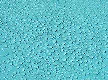Pattern blue water drops background. Beautiful blue water drops background Stock Photo