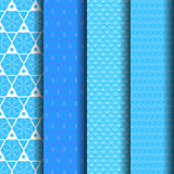Pattern blue and white. Set Geometric pattern in blue and white Royalty Free Stock Photo