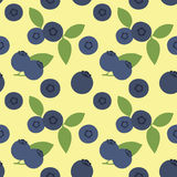 Pattern blueberries. Seamless. Stock Photography