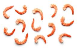 Pattern of boiled prawns Royalty Free Stock Photos
