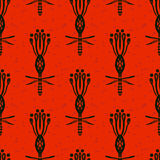 Pattern with bold flowers in African style Royalty Free Stock Image