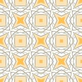 Pattern with bold geometric shapes in 1970s style Stock Photography