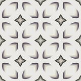 Pattern with bold geometric shapes in 1970s style. Simple geometric seamless vector pattern with bold stylized stars flowers and leaves in 1970s style. Texture Royalty Free Stock Photos