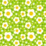 Pattern with bold and stylized flowers Stock Photos