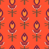 Pattern with bold stylized Indian motifs Royalty Free Stock Photos