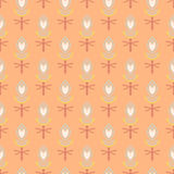 Pattern with bold stylized Indian motifs Stock Photography