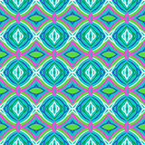 Pattern with bold stylized Indian motifs vector illustration