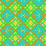 Pattern with bold stylized Indian motifs Stock Photos