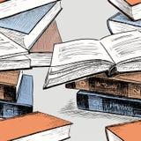 Pattern of the books stacks vector illustration