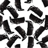 Pattern with boots Royalty Free Stock Images