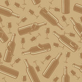 Pattern from a bottle and glasses Stock Photography