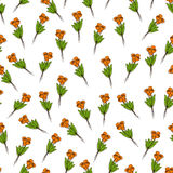 Pattern with bouquets Stock Images