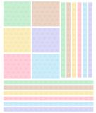 Pattern bows multi colored Stock Photos