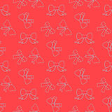 pattern with bows Stock Images