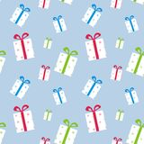 The pattern of boxes with gifts Royalty Free Stock Photo