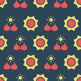 Pattern with bra and sun. Simple vector illustration with ability to change stock illustration