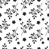 Pattern branches and flowers Royalty Free Stock Photography