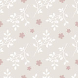 Pattern branches and flowers. Seamless pattern of branches and flowers Stock Image