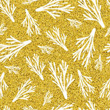 Pattern of branches on glitter background Stock Photo