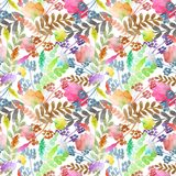 Pattern with branches royalty free illustration