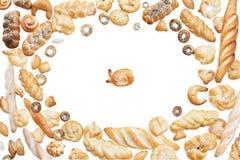 Pattern bread bakery product like fish. Background, pattern bread and other bakery product Royalty Free Stock Photo