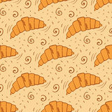 Pattern with bread Stock Photography