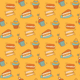 Pattern with bread Royalty Free Stock Image