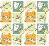 Pattern - breakfast Stock Photography
