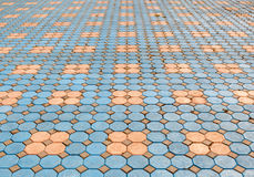 Pattern of Brick and Cement pavement background Stock Photos