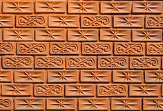Pattern on the brick wall Royalty Free Stock Photo