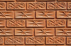 Pattern on the brick wall Royalty Free Stock Photos