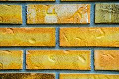 Pattern of bricks and mortar grouped as abstract background. stock photography