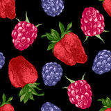 Pattern with bright berries Royalty Free Stock Photography