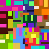 Pattern of bright colored squares and rectangles in a cozy house Stock Image